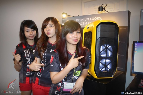 NXA Ladies with Corsair Graphite 780T ~ Nixiagamer.com