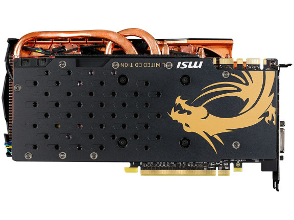 Limited Editon MSI GeForce GTX 970 Golden Edition Backplate ~ Nixiagamer.com